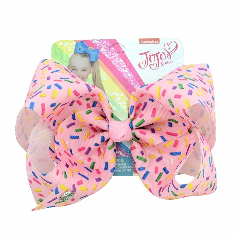 "JOJO Siwa 8/"" Large Girl Hair Bow Clips birthday Unicorn Party Meraid dance"