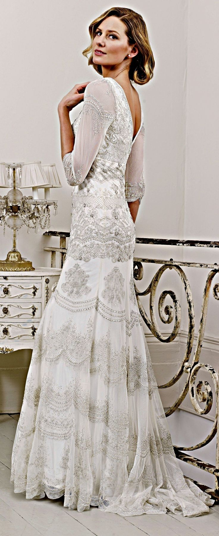 Wedding dresses for older brides second wedding with for Bridal dresses for second weddings