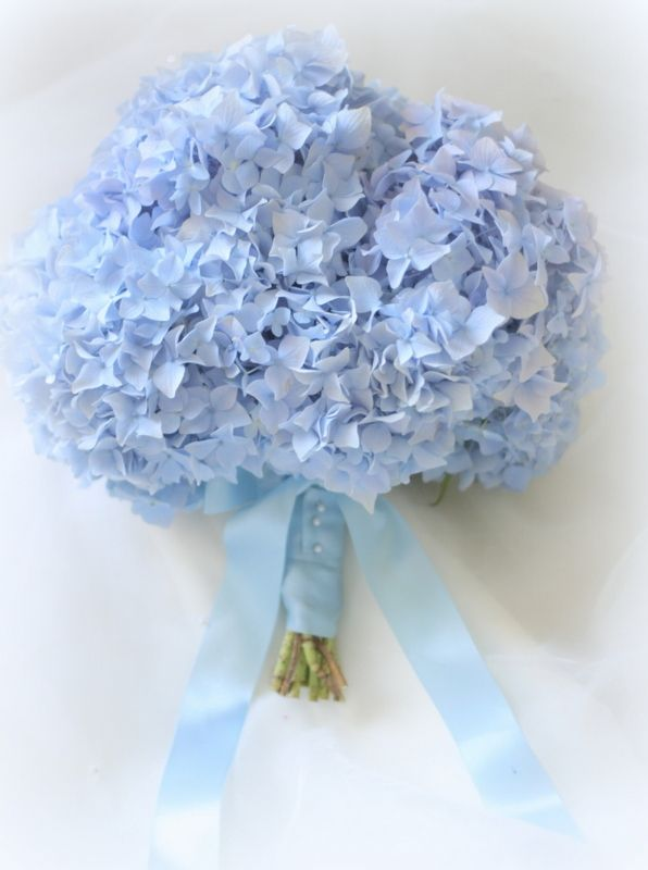 Pastel blue wedding flowers bouquet by Blush Rose Manchester Wedding Florist