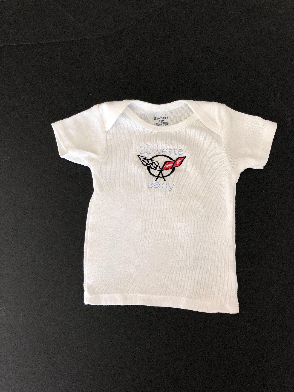 Corvette Baby Embroidered T Shirt C1 C7 Baby Vette T Shirt Vette