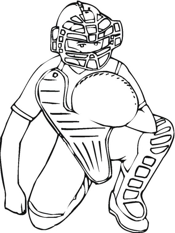 Mlb coloring pages logo baseball 3 coloring page