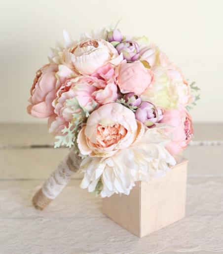 Свадебные цветы шелк