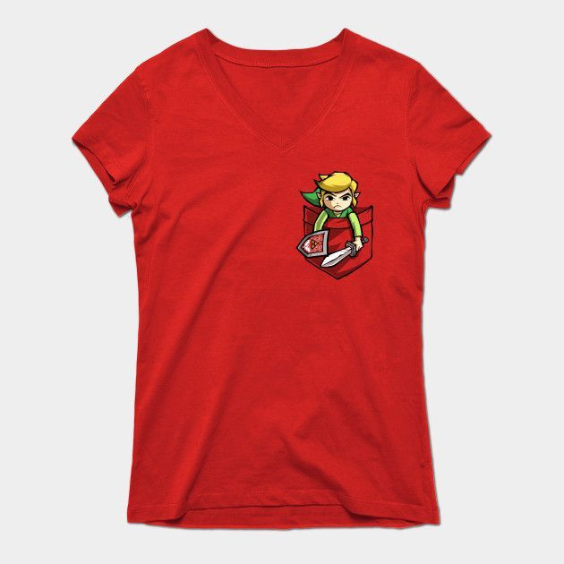 Pocket Link Womens V-Neck T-Shirt