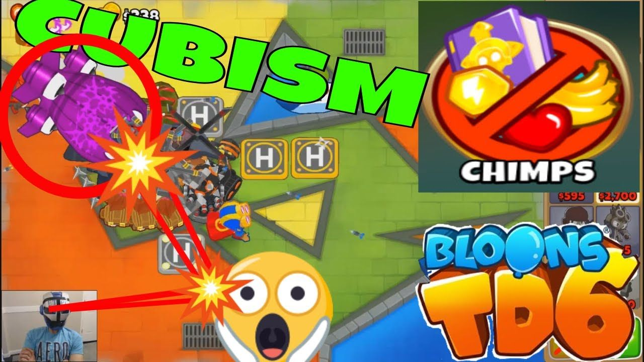 BLOONS TD 6 CUBISM MAP ON CHIMPS MODE !!!! | BLOONS TD 6