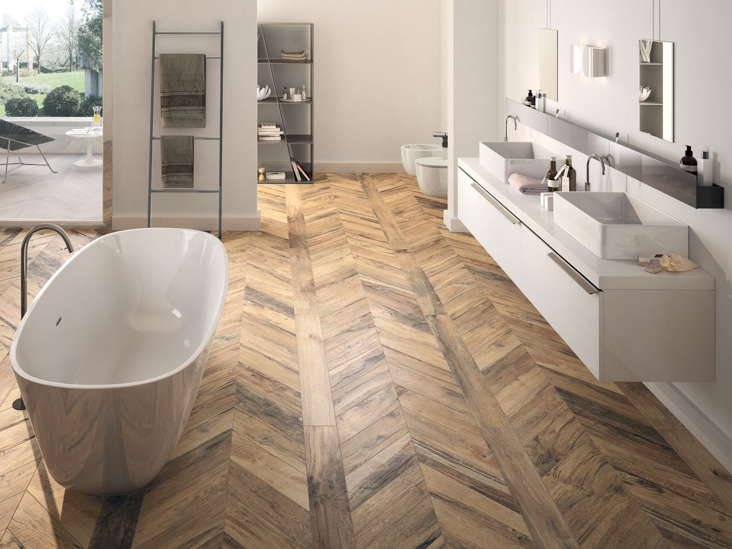 Millelegni Scottish Oak Wood Look Tile Bathroom Wood