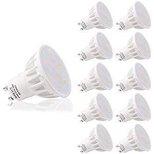 LOHAS Confezione da 10 Lampadine LED GU10 6Watt