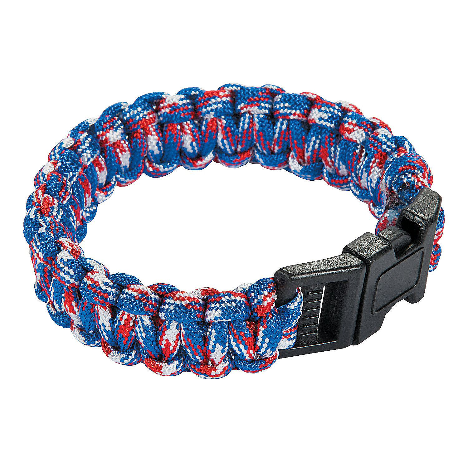 Adult's Patriotic Paracord Bracelets - OrientalTrading.com  Purchase for $1.35, sell for $5 or $10