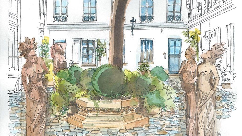 Conçue par Jérôme Marcadé, nichée dans le quartier de l'Odéon, la première galerie parisienne dédiée aux beaux-arts, à la littérature et aux jardins, présentera sur 80 mètres carrés le travail d'artistes liés à ces univers. À