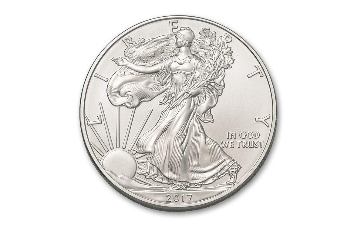 2017 1 Dollar 1 Oz Silver Eagle Bu Silver Bullion Gold And Silver Coins Silver Eagle Coins