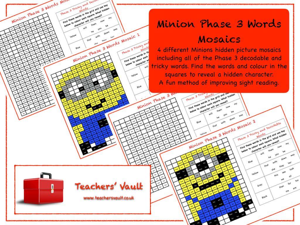Minion Activities Worksheet