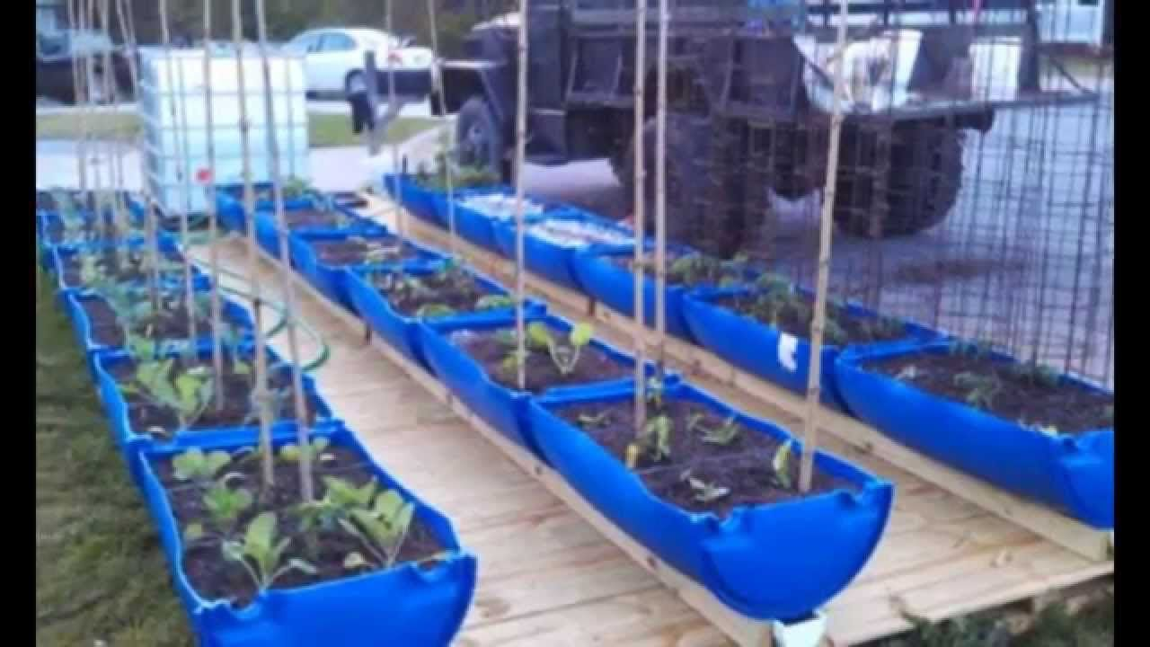 Fantastic Rain Gutter Grow System Built By Brook And