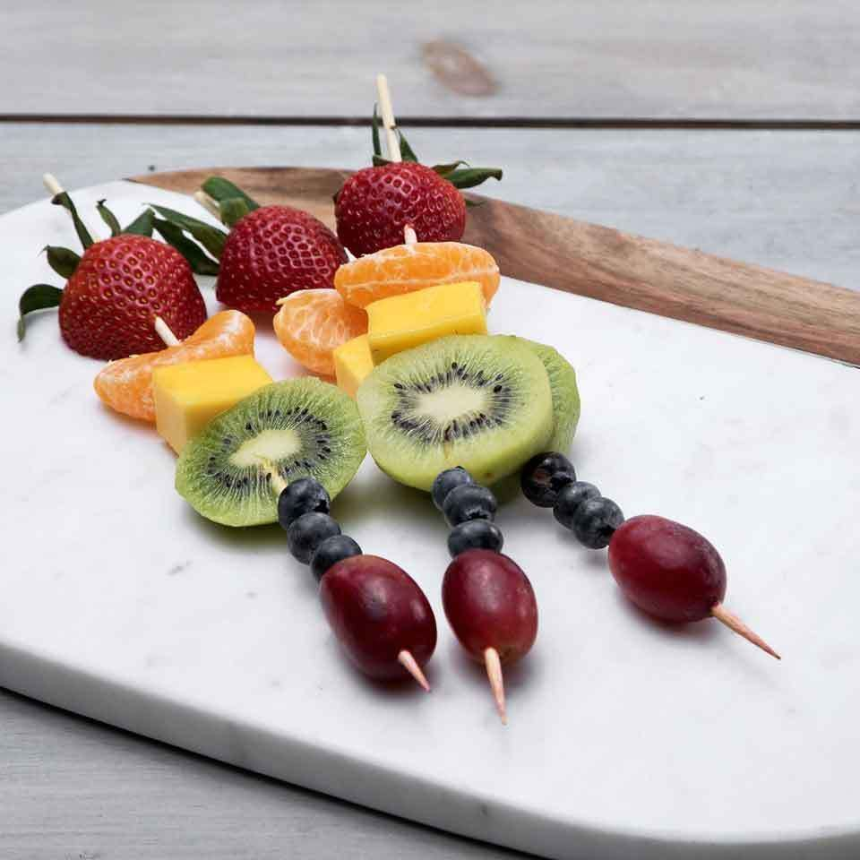 Our Top Healthy Kids Lunch Ideas For School Fruit Kebabs Clean Eating Desserts Best Fruit Salad