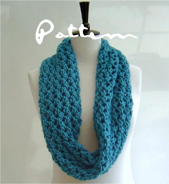 Chunky Lattice Lace Infinity Scarf | Scarf patterns, Patterns and ...
