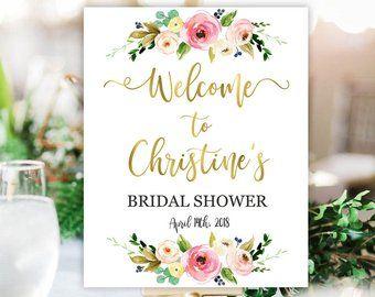 bridal shower welcome sign bridal shower sign bridal shower