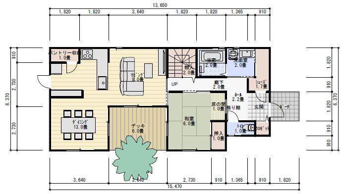 40坪5ldk中庭のある家の間取り 理想の間取り 40坪 間取り
