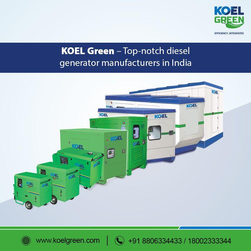 KOEL Green – Top-notch diesel generator manufacturers in