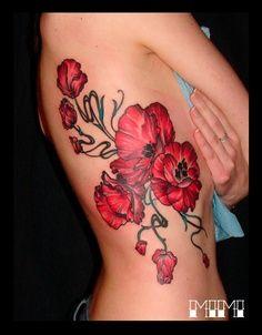 Poppy Flower Poppies Tattoo Tattoos Rib Tattoo