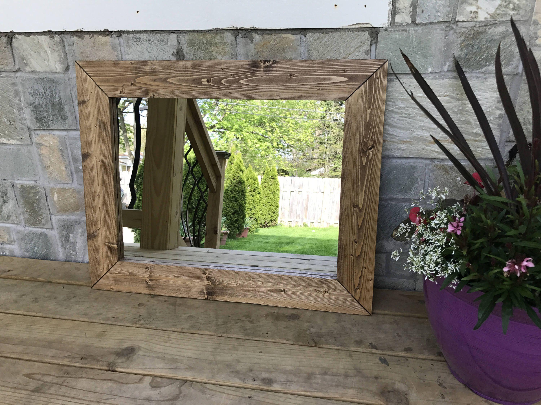 Special Walnut Mirrors Hallway Wood Frame Mirror