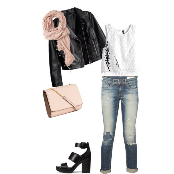 Un peu rock... by missfaure on Polyvore featuring polyvore, mode, style, H&M, rag & bone and Forever 21