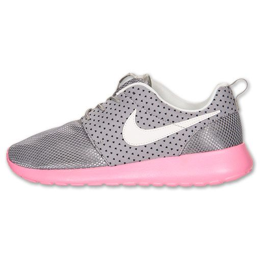 san francisco 03c96 6f626 Nike Roshe Run Womens Medium Grey Sail Polarized Pink Black 511882 002