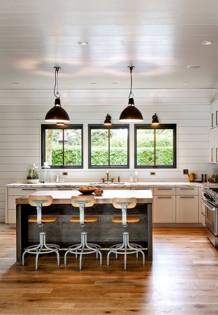 A Modern Farmhouse In Portland Home kitchens, Modern