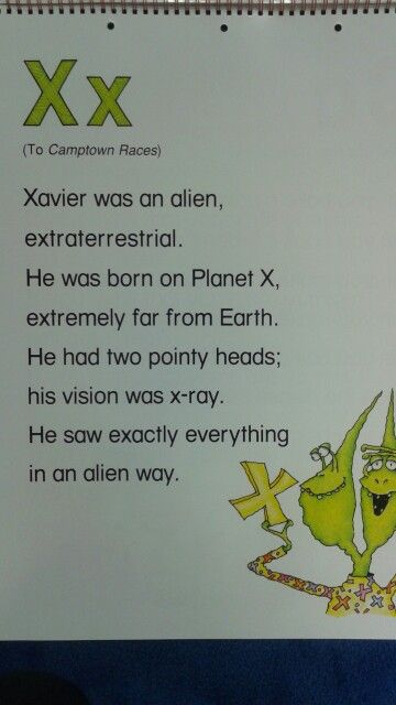 X Alliteration Poem | ABC Alliteration Poems | Pinterest ...
