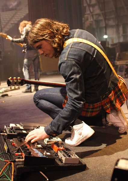 Jamie Cook... one of very few people who can wear double denim and tartan and still look amazing!