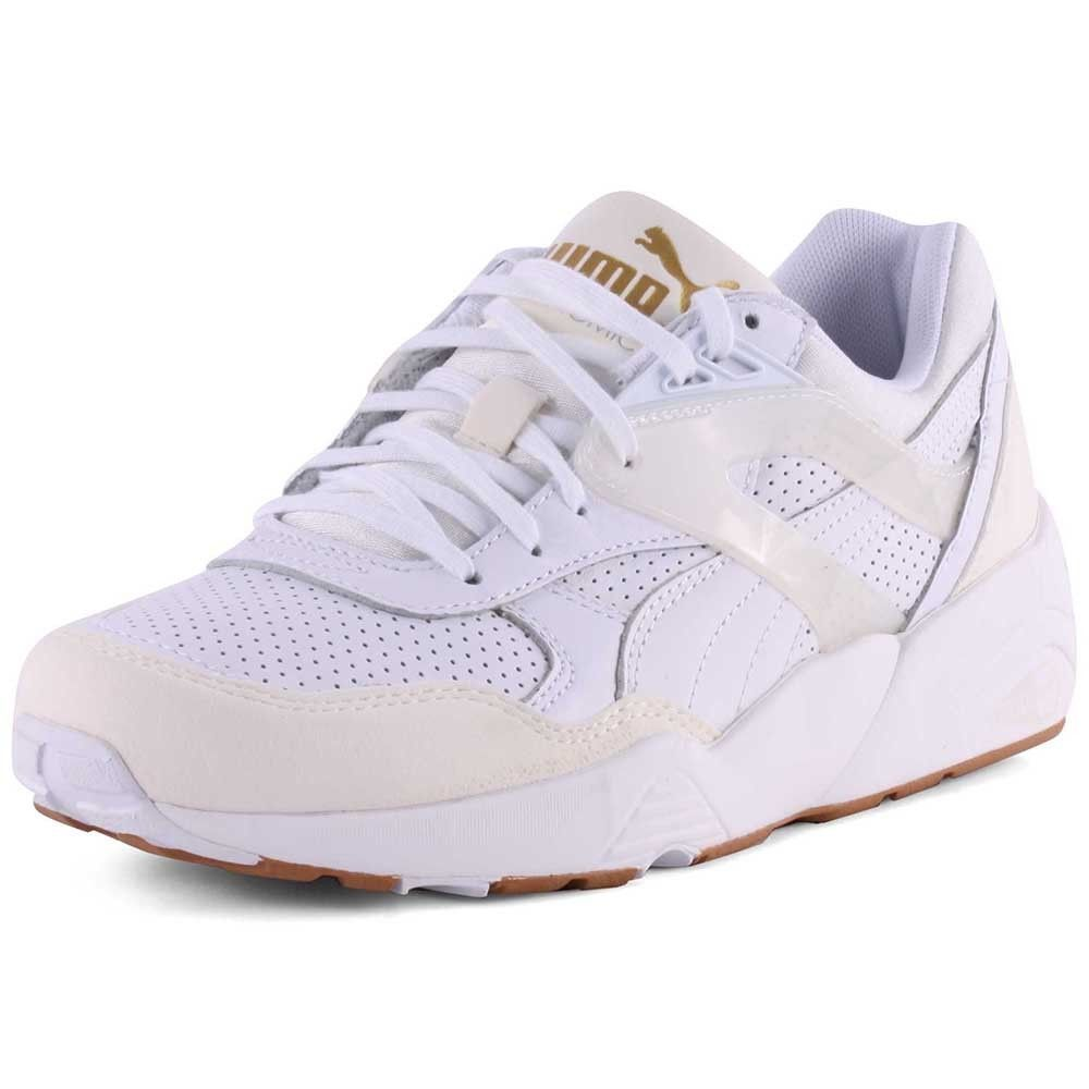 Puma R698 Womens Leather White Trainers New Shoes All Sizes in Clothing 2a0da309c