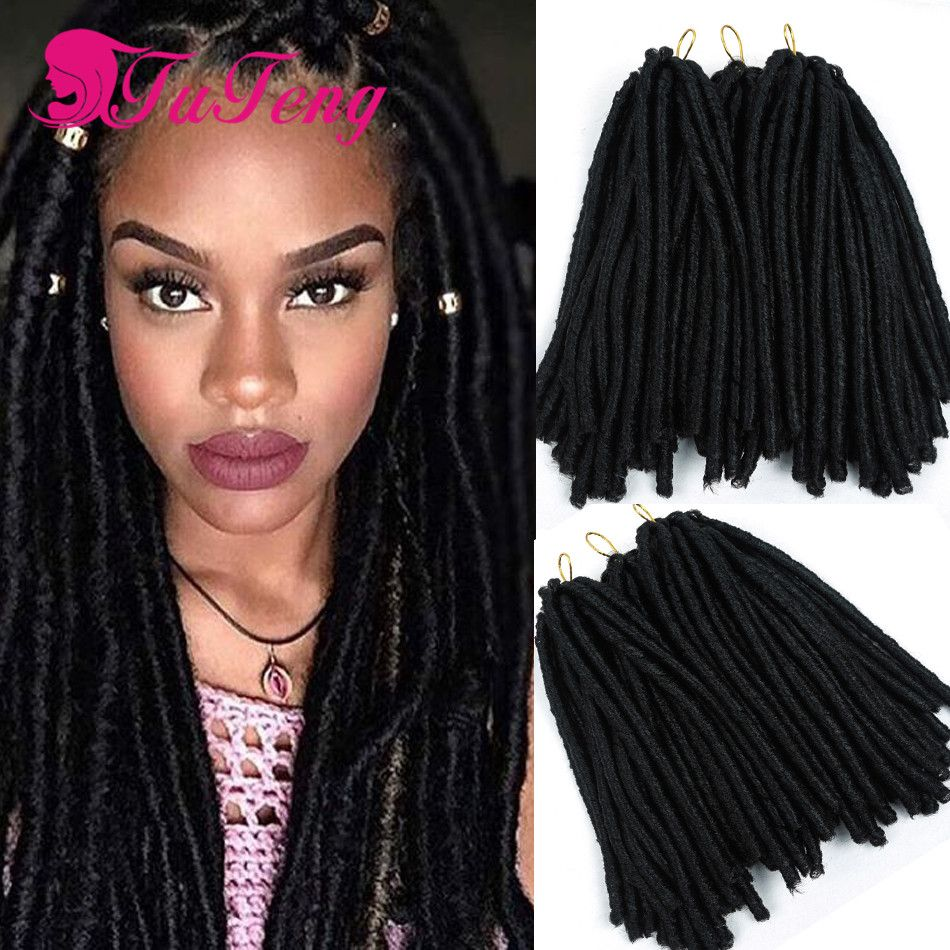 Photo of Top 14 inch crochet faux locs dreadlock braids soft synthetic …