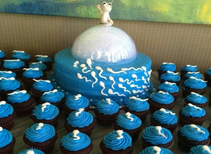 Sperms Attack Egg Funny Baby Shower Cakes Baby Shower Funny