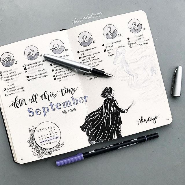 40 September Bullet Journal Cover Pages to Inspire You #septemberbulletjournalcover