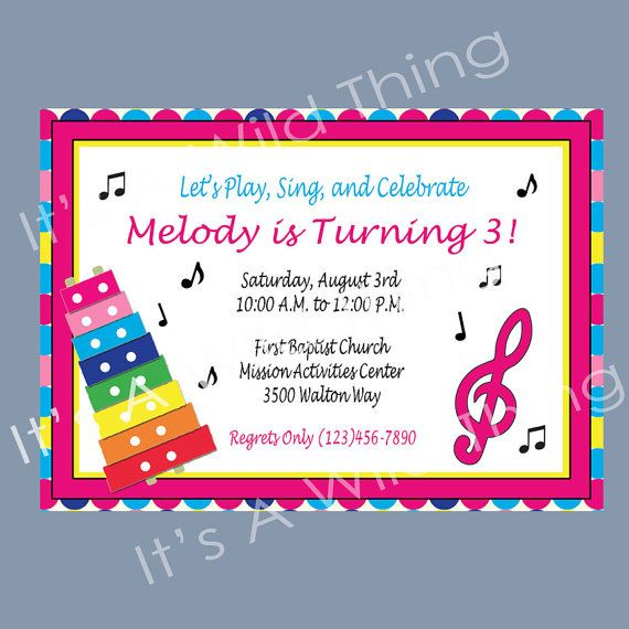 Music Party Invitation Rockinu0027 Birthday Party Pinterest Music - fresh birthday party invitation message to friends