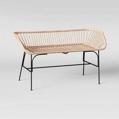 Marvelous Lupini Rattan Bench Opalhouse Brown Rattan Rattan Gamerscity Chair Design For Home Gamerscityorg