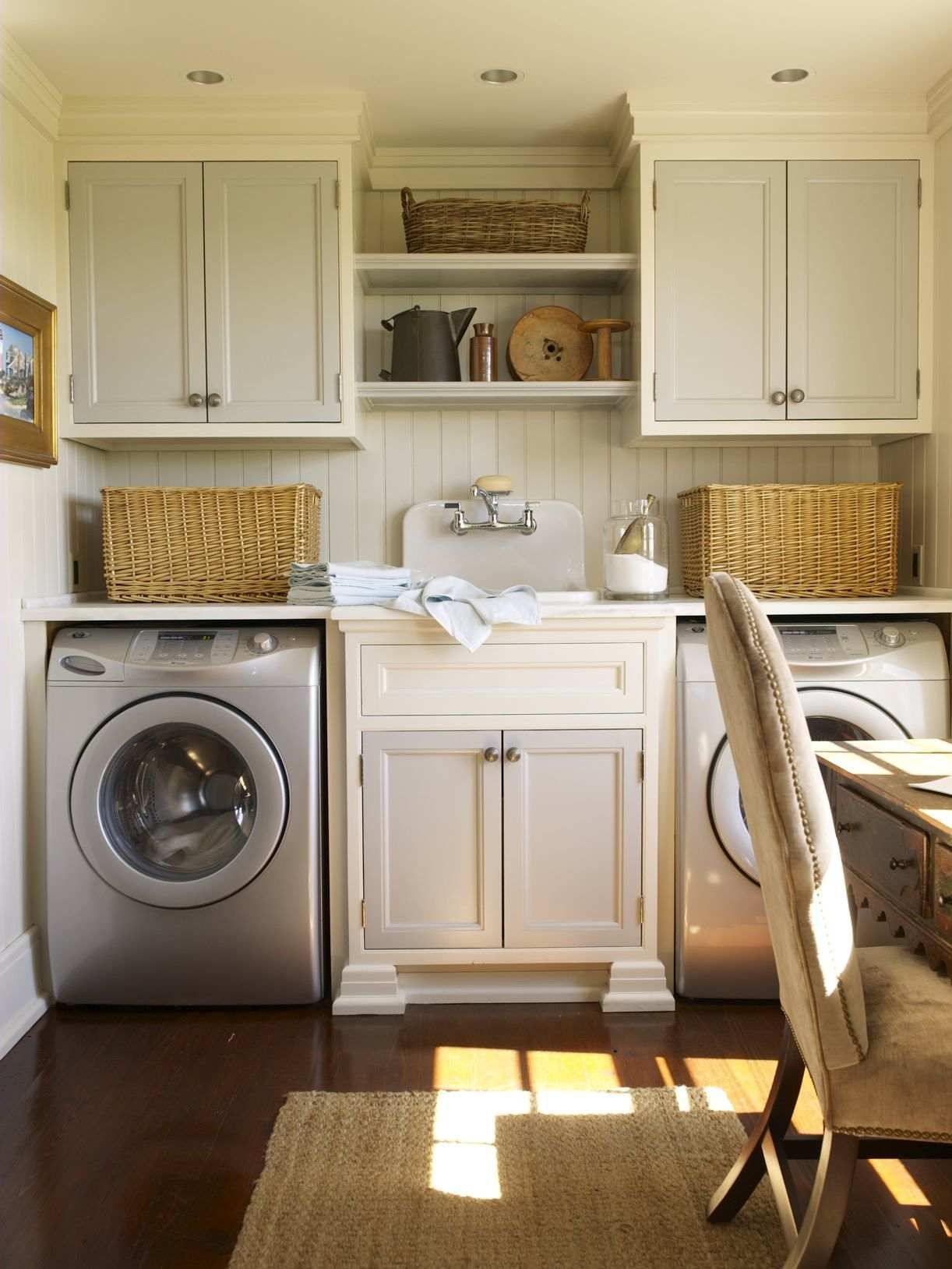 "A laundry room.  This house was described as ""A Nantucket House Without the Blues""...I love it!"