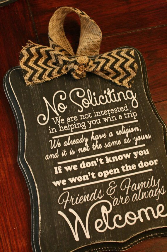 Hand Painted No Soliciting Signs Google Search
