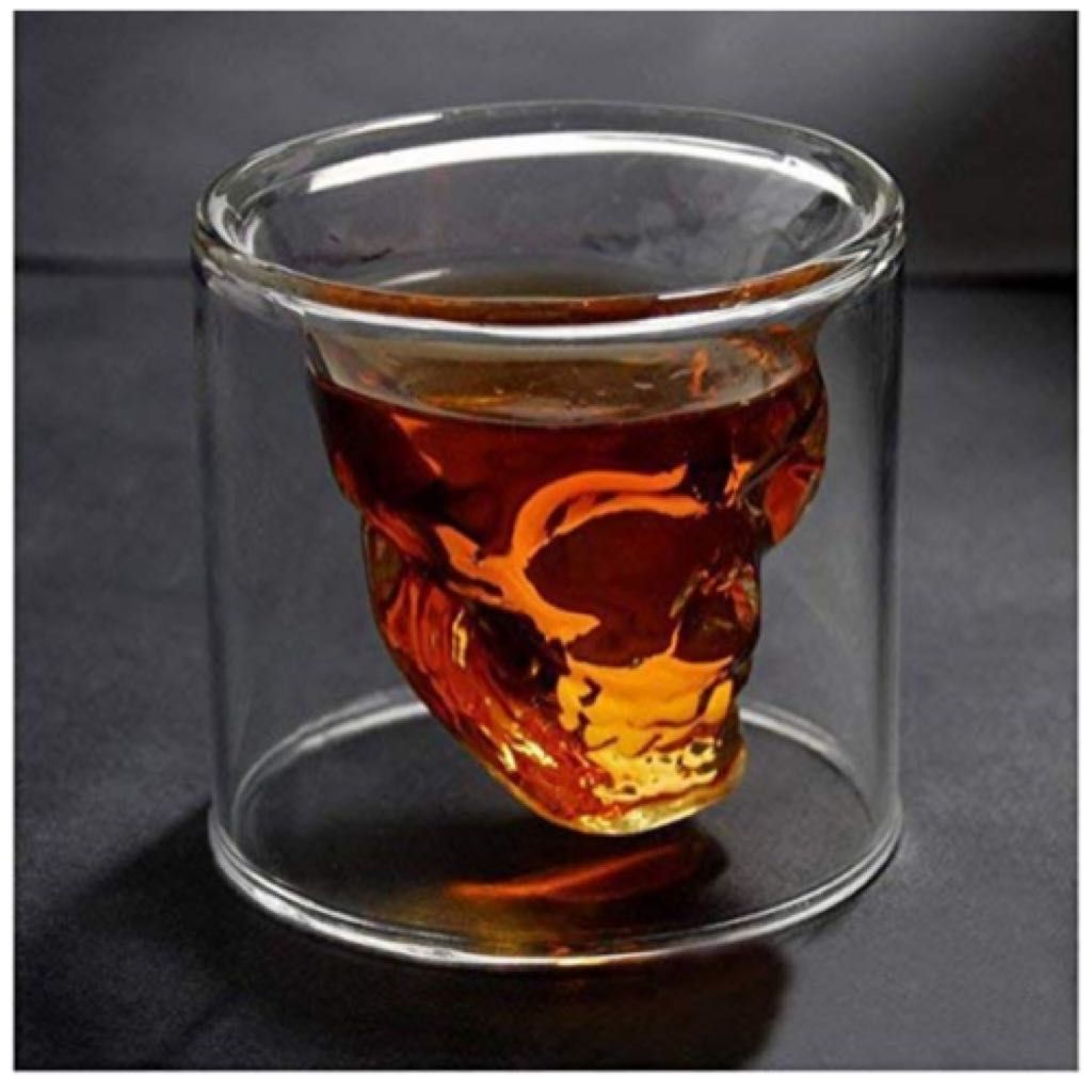 Hwagui So Cool Crystal Skull Shot Glass Drink Wine Cup For A Whiskey 200ml 6 83oz Giftryapp Skull Shot Glass Shot Glass Glass Display Case