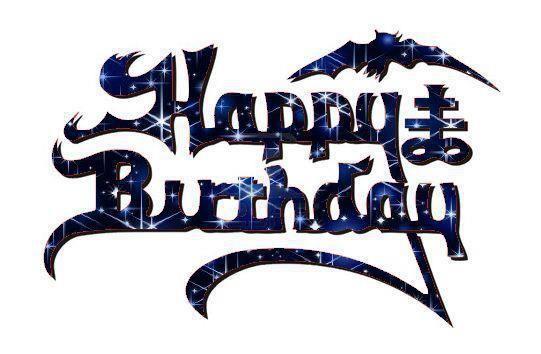 proud to be a metalhead | King Diamond (Happy Birthday) logo