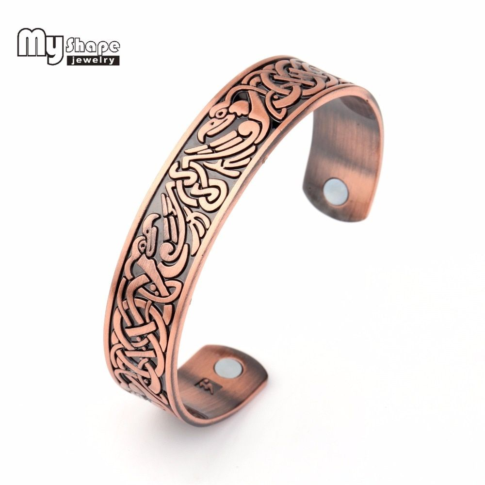 Copper Health Promote Sleep Care Magnetic Therapy Open Ring Cuff For Men Women