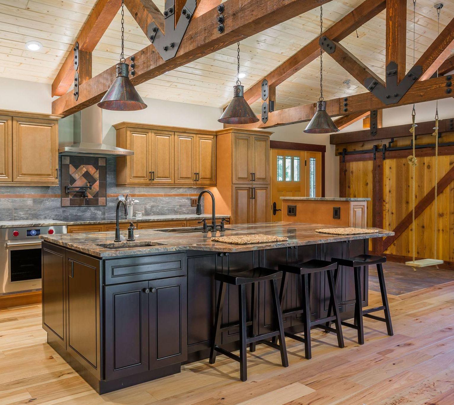 Home Cabinet Westbury Cinnamon Maple Kitchen Cabinets And Espresso Kitchen Island In 2020 Maple Kitchen Cabinets Maple Kitchen Espresso Kitchen