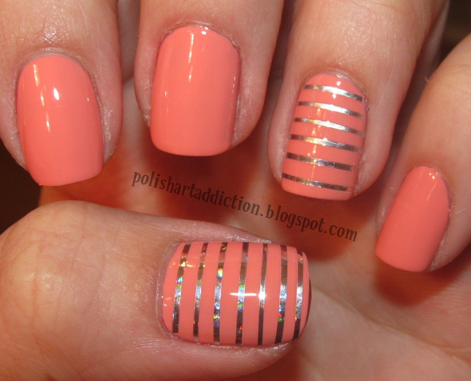 Coral Acrylic Nails On Pinterest Crazy Acrylic Nails