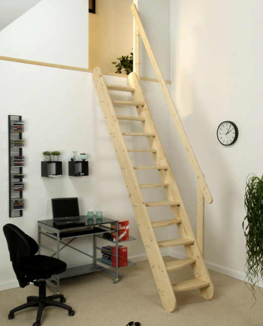 Dolle Gera Space Saving Wooden Staircase Kit Loft Stair Loft: Dolle Gera  Space Saving Wooden