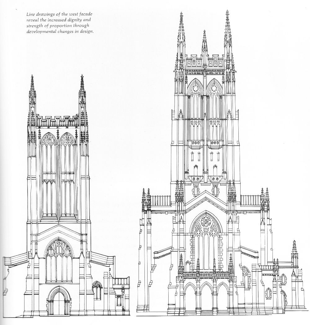 Line Drawings Of The West Facade Reveal Increased Dignity And Strength Proportion Through Developmental
