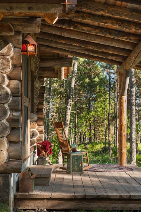 The Cabin S Original Logs Dating Back To Early 1900s Have Lived Through Cute Decor Pinterest Porch And Porches