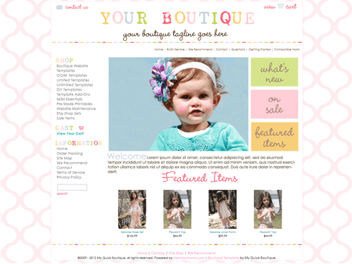 boutique website templates google search cute websites and