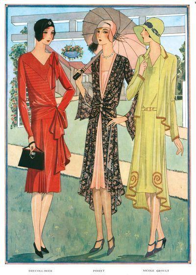 1920s art deco fashion beauty france jazz age umbrellas for Art deco trend
