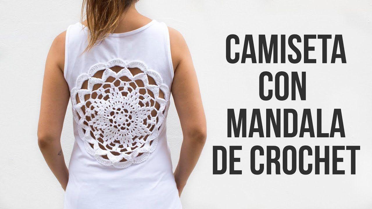 Camiseta con mandala de crochet - YouTube | Crochet Verano ...