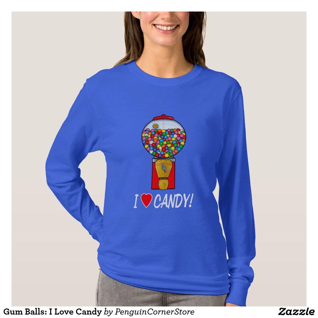 Gum Balls: I Love Candy T-Shirt