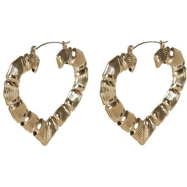 Gold Heart Hoop Earrings 2 80 Liked On Polyvore Featuring Jewelry Earrings Accessories Bijo Gold Heart Earring Heart Shaped Jewelry Yellow Gold Jewelry