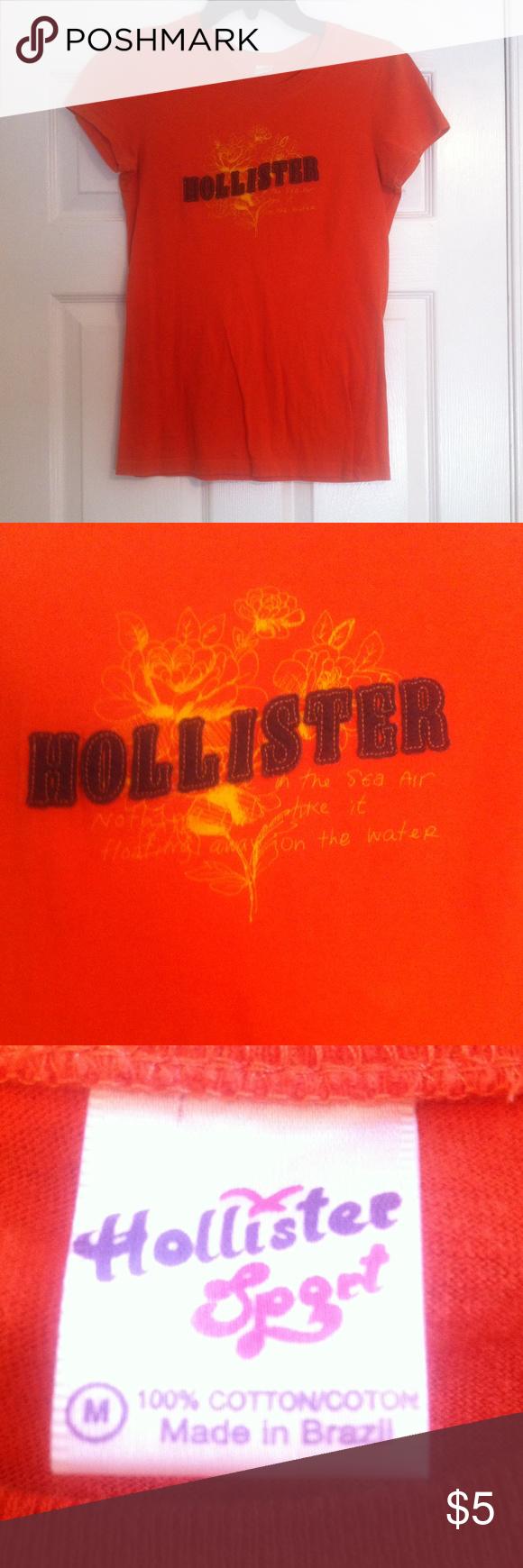 Hollister orange tshirt Hollister orange tshirt Hollister Tops Tees - Short Sleeve