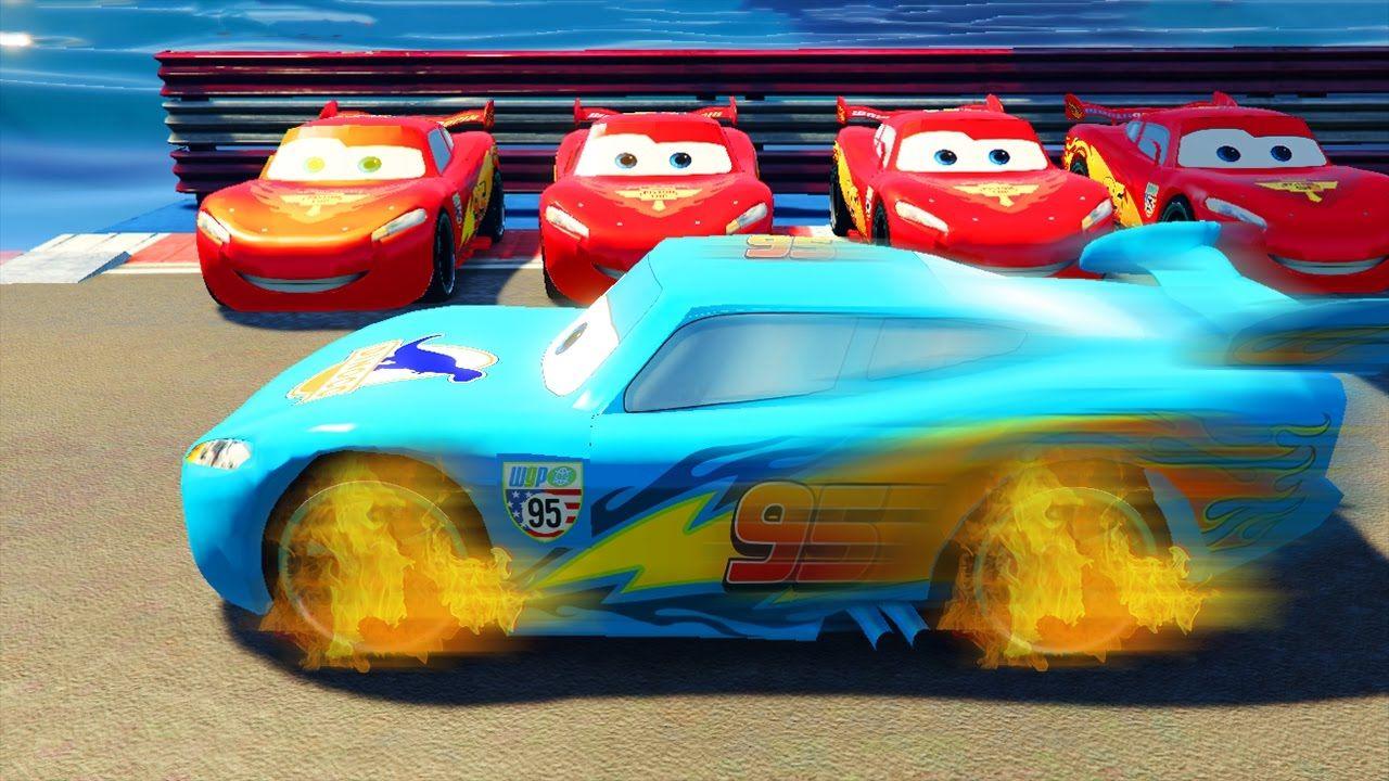 Cars Race Part 2 Lightning Mcqueen Dinoco In Racing Games Disney
